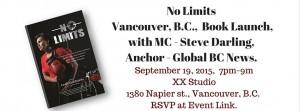 No Limits Vancouver Book Launch,
